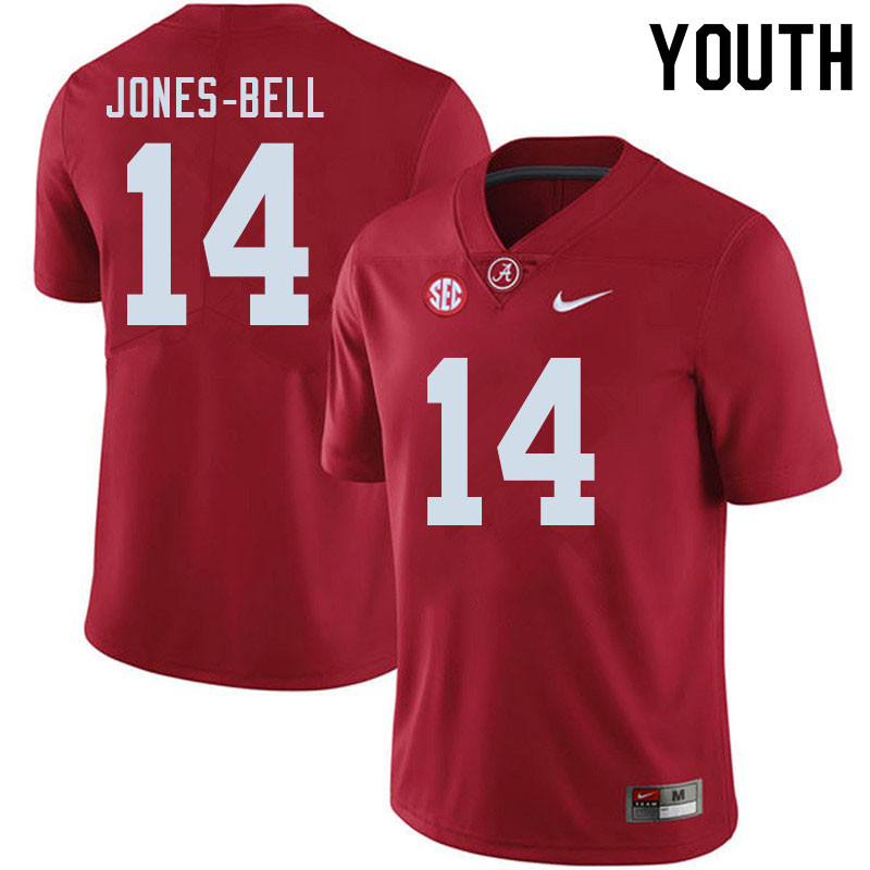 Youth #14 Thaiu Jones-Bell Alabama Crimson Tide College Football Jerseys Sale-Crimson