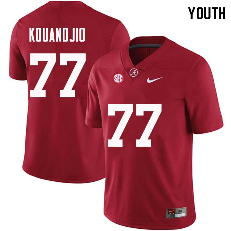 Youth #77 Arie Kouandjio Alabama Crimson Tide College Football Jerseys Sale-Crimson