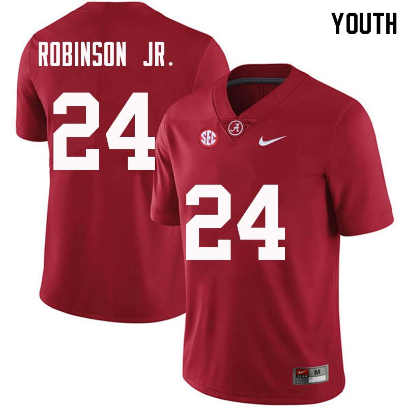 Youth #24 Brian Robinson Jr. Alabama Crimson Tide College Football Jerseys Sale-Crimson
