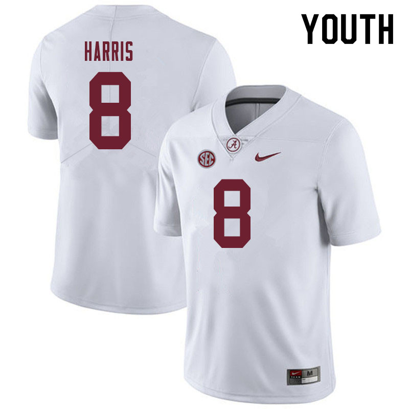 Youth #8 Christian Harris Alabama Crimson Tide College Football Jerseys Sale-White