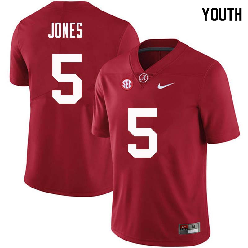 Youth #5 Cyrus Jones Alabama Crimson Tide College Football Jerseys Sale-Crimson