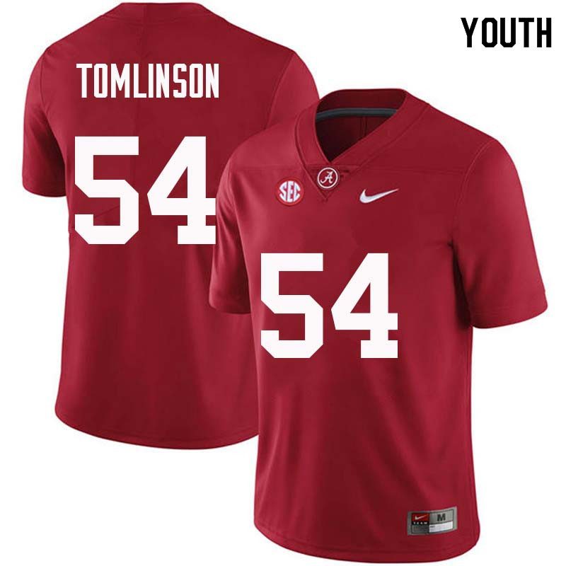 Youth #54 Dalvin Tomlinson Alabama Crimson Tide College Football Jerseys Sale-Crimson