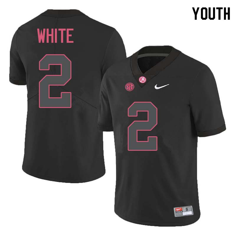 Youth #2 DeAndrew White Alabama Crimson Tide College Football Jerseys Sale-Black