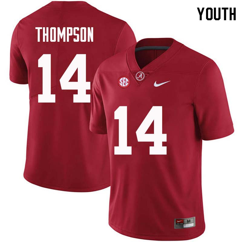 Youth #14 Deionte Thompson Alabama Crimson Tide College Football Jerseys Sale-Crimson