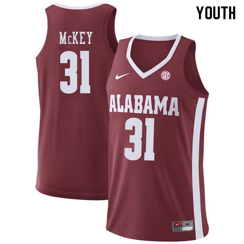 Youth #43 Donta Hall Alabama Crimson Tide College Basketball Jerseys Sale-Crimson