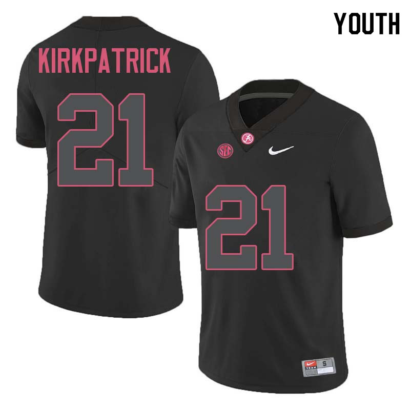 Youth #21 Dre Kirkpatrick Alabama Crimson Tide College Football Jerseys Sale-Black