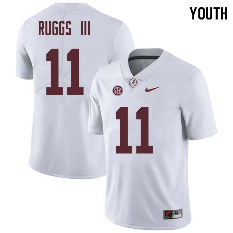 Youth #11 Henry Ruggs III Alabama Crimson Tide College Football Jerseys Sale-White