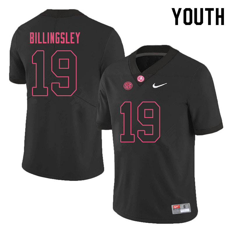 Youth #19 Jahleel Billingsley Alabama Crimson Tide College Football Jerseys Sale-Black