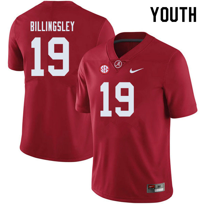 Youth #19 Jahleel Billingsley Alabama Crimson Tide College Football Jerseys Sale-Crimson
