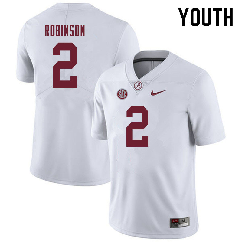 Youth #2 Keilan Robinson Alabama Crimson Tide College Football Jerseys Sale-White