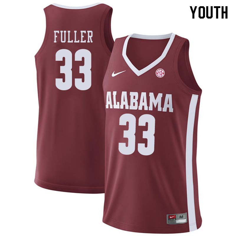 Youth #44 Donta Hall Alabama Crimson Tide College Basketball Jerseys Sale-Crimson