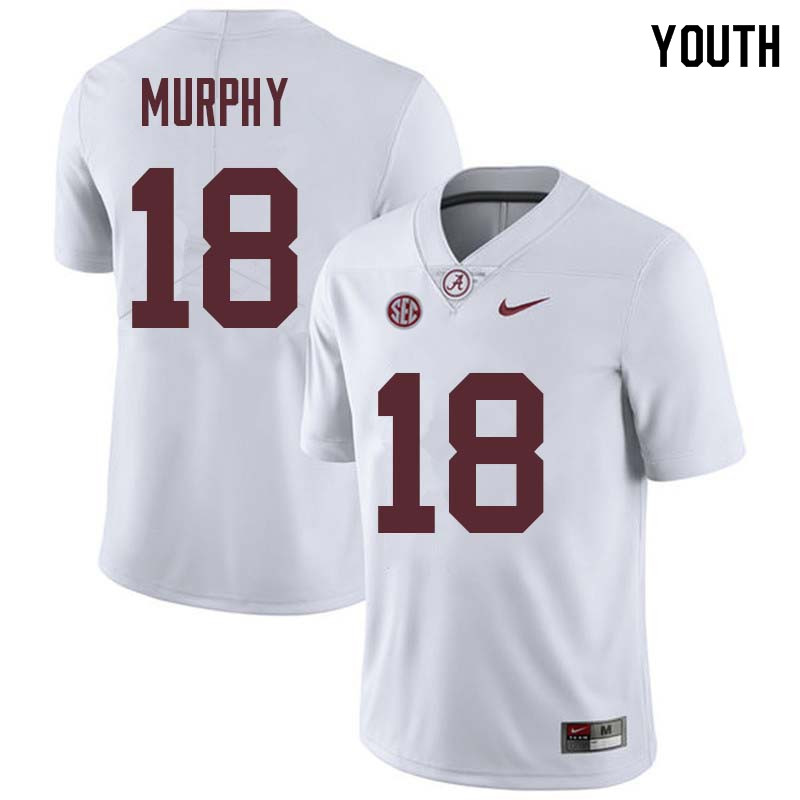 Youth #18 Montana Murphy Alabama Crimson Tide College Football Jerseys Sale-White