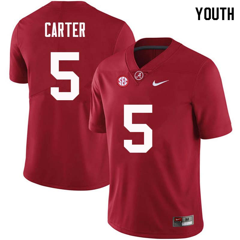 Youth #5 Shyheim Carter Alabama Crimson Tide College Football Jerseys Sale-Crimson